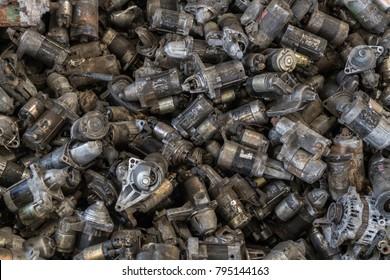 Scrap Automotive Alternators & Starters. scrap metal recycling. source of scrap copper for recycle.