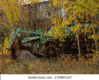 Scrap of big machine left after the Chernobyl disaster. Chernobyl Exclusion Zone, Ukraine.