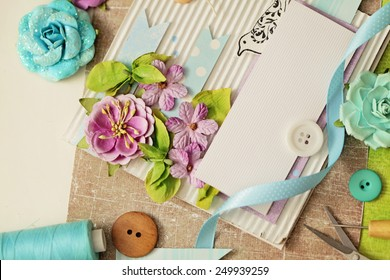 Card making images stock photos vectors shutterstock scrap booking making of greeting card m4hsunfo