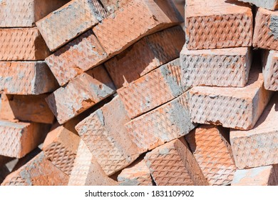 Scrap bricks. Construction is in progress. Destroy a brick wall. Engage in construction. Bricks with cement. Construction Materials
