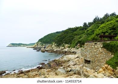 scrap bunker ,DongYin Coast line ,Matsu, Taiwan