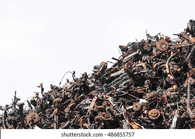scrap metal isolated on the white background
