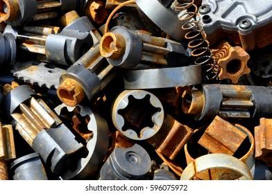 scrap metal from laser cut steel parts