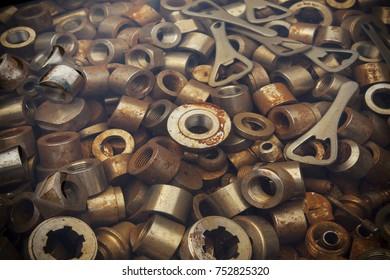 scrap metal on pile