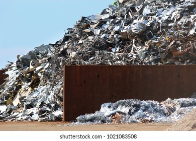 Scrap metal ready for recycling industry area