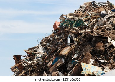 scrap metal at recycling yard