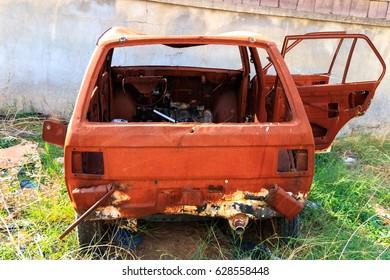 Scrap rustet Car