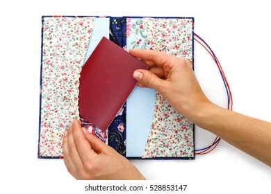 Scrapbooking holder for travel documents