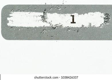 Scrape label background