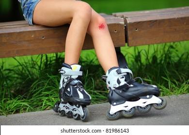 Scraped knee