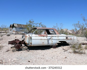 Scrapped Car at Rhyolite, Nevada, USA