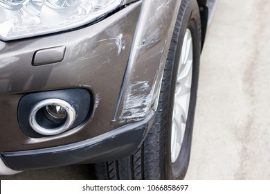 Scratch on car, abrasive car colour from car carsh or grab
