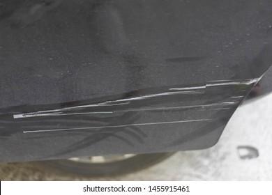scratch on the car door