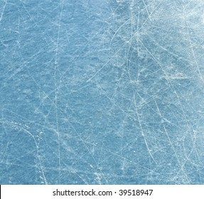 Scratched blue ice surface