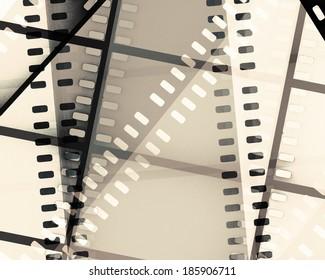 scratched film strip background