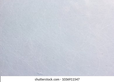 scratched ice hockey floor background and texture, ice rink floor