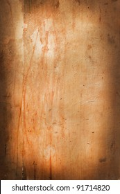 scratched old butcher's board as the background