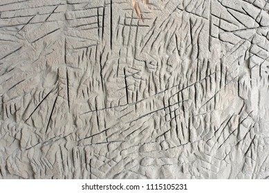 Scratches and cut on the wall