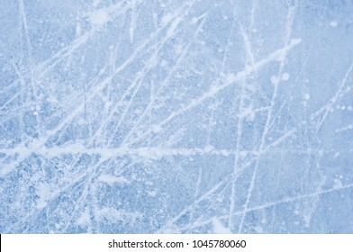 Scratches on the surface of ice