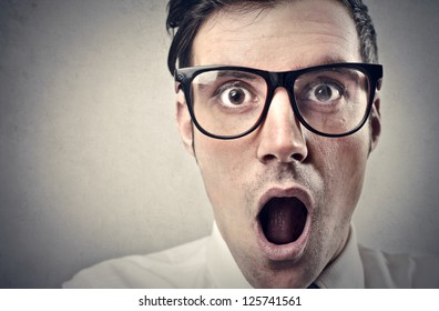 Screaming office worker
