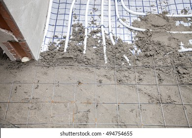 Screed flooring. POLYMER-MODIFIED SAND and CEMENT FLOOR SCREED