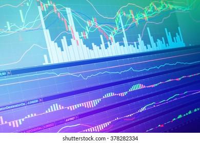screen design of Stock market chart Business Financial concept