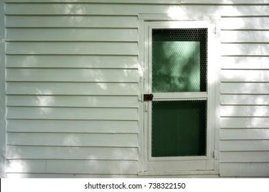 Screen Door Made from Chicken Wire