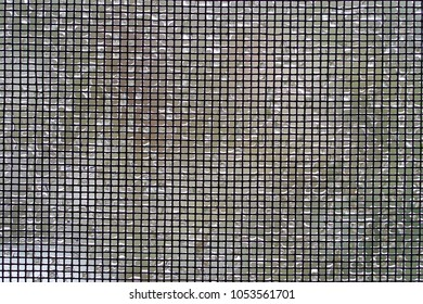 screen mesh with ice on it