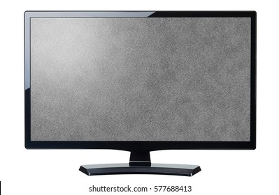screen monitor tv noisy video grain isolated on white