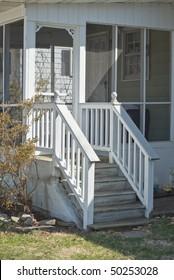 Screen Porch on a Suburban Residence