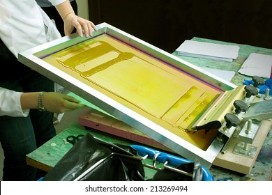 Screen Print With Yellow Ink