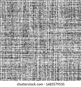 screen tone rough fabric crisscross fibers, crosshatch shading black and white seamless pattern for adding texture to pics and illustrations, nuances to vector graphics, vibrations in flat colors, etc