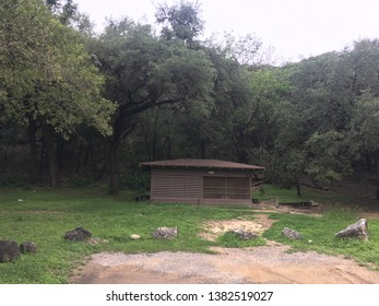 Screened shelter in Garner State Park, Texas