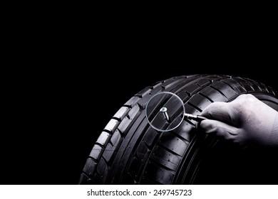 Screw in Tyre