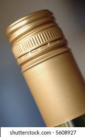 Screwcap on wine bottle