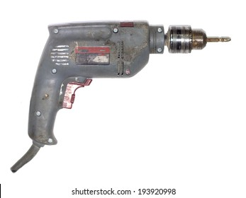 screwdriver, drill power on white background