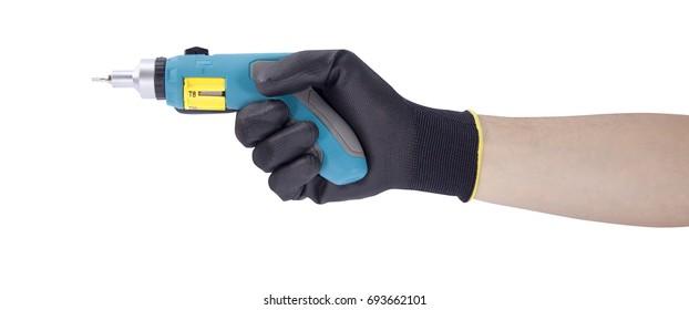 Screwdriver in hand - handyman