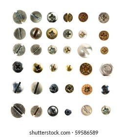 Screws head collection.