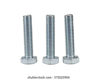 screws isolated on white backgrounds