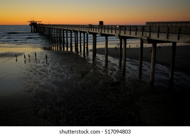 Scripps Pier at sunset, La Jolla, San Diego, USA.