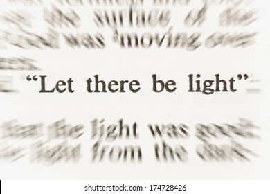 Scripture From The New American Standard Bible From Genesis 1:3 Saying Let There Be Light