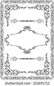Scroll nice ornate border is on white