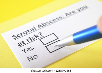 Scrotal abscess: are you at risk? yes or no