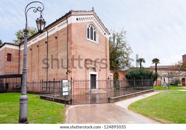 Scrovegni Chapel in Padua, Italy in autumn day