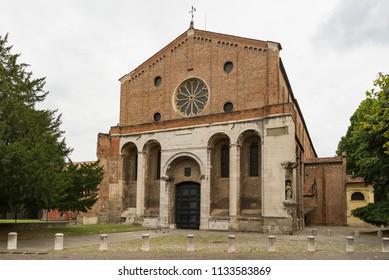 Scrovegni Chapel in Padua, Italy in summertime
