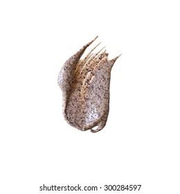 Scrub sample isolated on white background