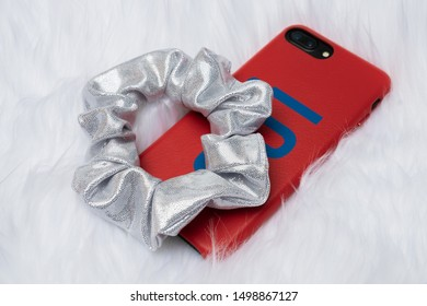 Scrunchies Stock Photo (Shiny Silver)