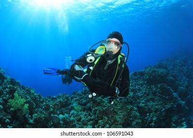 Scuba Diver in the Red Sea