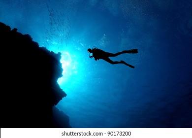 Diver Silhouette Images, Stock Photos & Vectors | Shutterstock