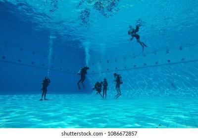 Scuba diving classroom